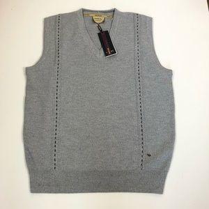 novel exclusive blue V neck pullover mens vest XL